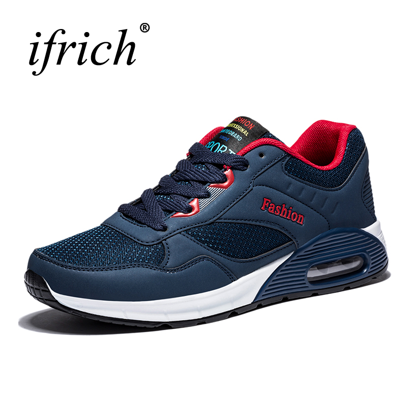 2017 Spring/Summer Quality Mens Sport Shoes Brands Breathable Trail Running Shoes Black/Red/Blue Athletic Training Sneakers Men