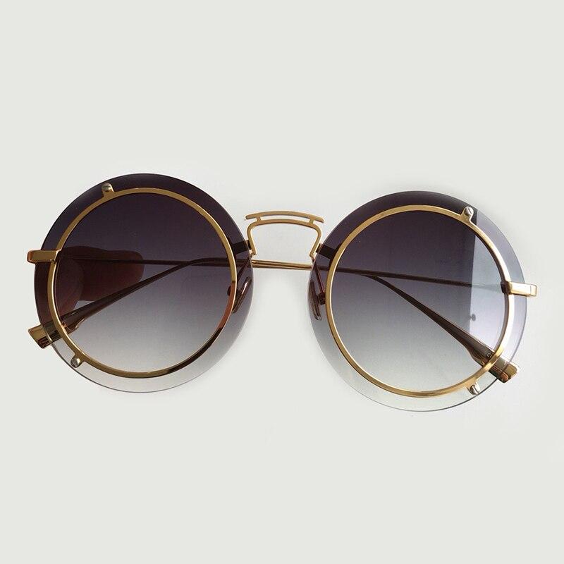 no no Rahmen Gläser no No Luxus 2019 Sonnenbrille no Brillen no 2 Mode no 8 no 3 Dekorative 7 4 Randlose 6 5 Runde Legierung Oculos 1 Frauen Fd6wR7qzwx