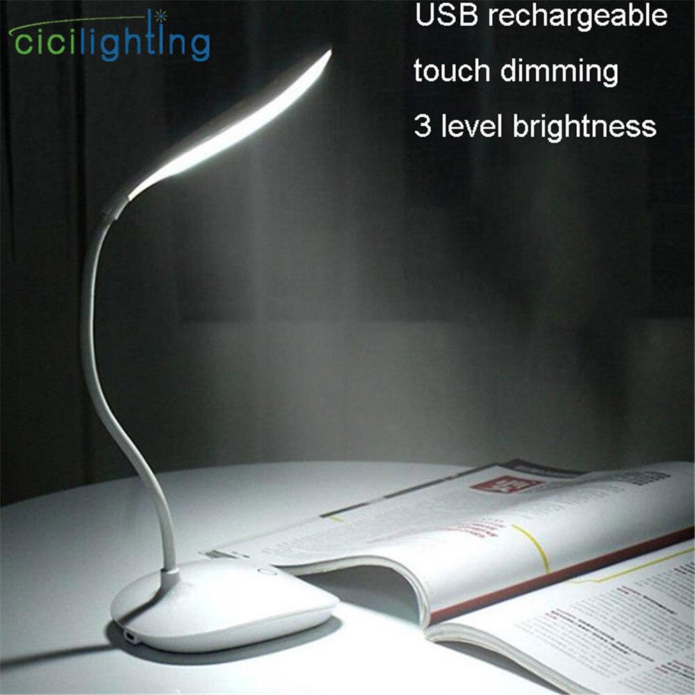 USB Charging Led Night Light Touch Dimming Led Reading Night Lamp 3 Brightness Bedside Led Folding Lamp Gift Camp Lighting