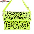 ! popular fluorescence color hollow-out envelope bag ,women candy color one shoulder bag fashion day clutch bag  BK279