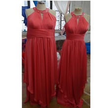 MDBRIDAL Plus Size Bridesmaid Dresses with beading A-line Chiffon Women Formal Dress for Weddings