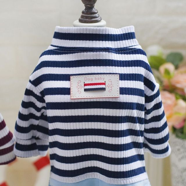 Pets Dog Clothes Coat Puppy Hoodies Vest Cute Striped Clothing for Small Dog Cat Outfit Spring Pet Apparel