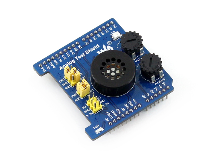 Modules Analog Test Shield Developemnt Board Features AD Acquisition DA Output Compatible with UNO,Leonardo, NUCLEO, XNUCLEO modules music shield development board for leonardo nucleo xnucleo audio play record vs1053b onboard