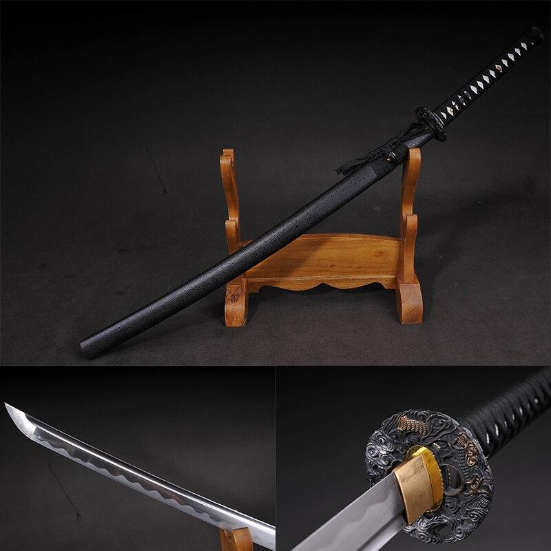 new bushido handmade katanas swords katanas samurai japanese swords Sharp katana Metal crafts alloy tsuba long