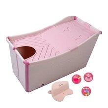 baby tubs  bucket double bath bucket folding up heat preservation tub sitting folding baby swimming adult bath bucket bath