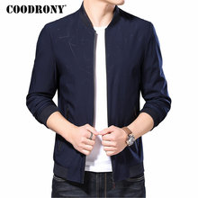 COODRONY Brand Bomber Jacket Men Clothes 2019 Autumn Winter Mnes Jackets And Coats Casual Coat Men Stand Collar Outerwear 98010 varsanol brand men s bomber jackets windbreaker coats embroidery logo baseball collar male full sleeve winter leather outerwear