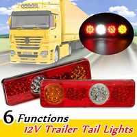 12V 6 Functions 36 LED Rear Tail Lights Lamp Trailer Caravan Truck Lorry