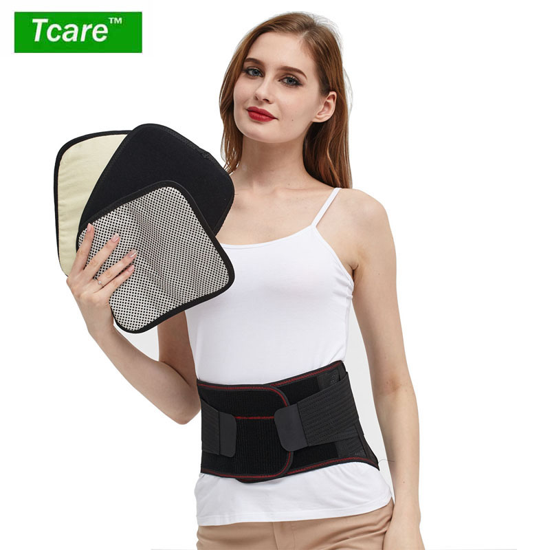 Tcare Lumbar Support Belt, Breathable Mesh Lower Back Waist Support Brace Therapy,Adjustable Straps for Relieving Low Back Pain double pull lumbar support lower back belt brace band waist four aluminium strips protection back waist support belt yw 01m27