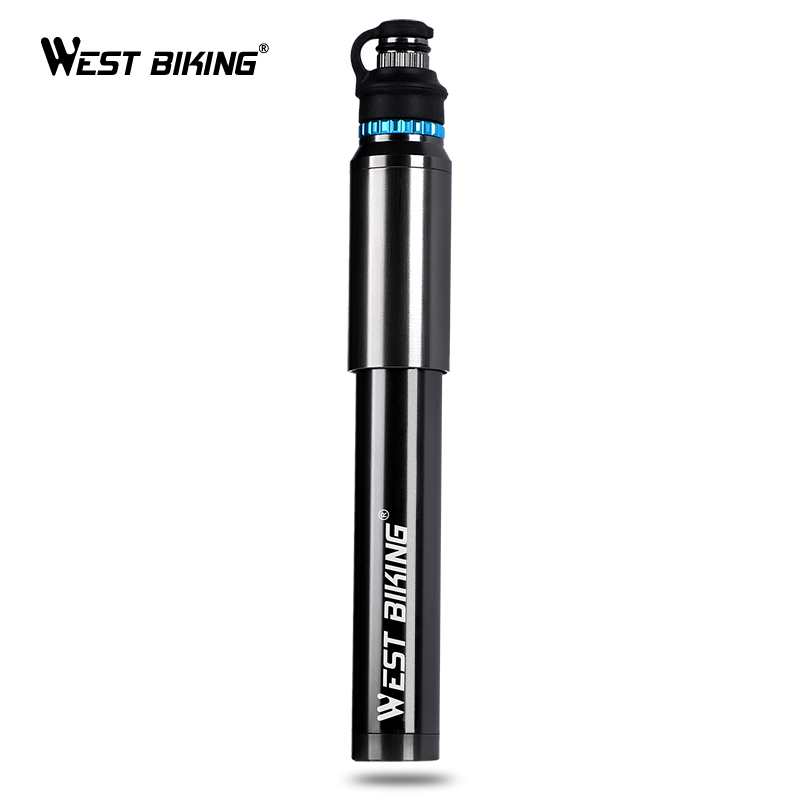 цена WEST BIKING Portable Mini Bike Pump Hose Pocket Pump Presta & Schrader Valve Bike Accessories 150 PSI High Pressure Bicycle Pump