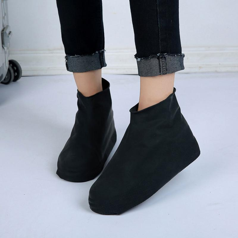 High Quanlity Waterproof Reusable Rain Shoes Covers Rubber Slip-resistant Rain Boot Overshoes Men&Women Shoes Accessories