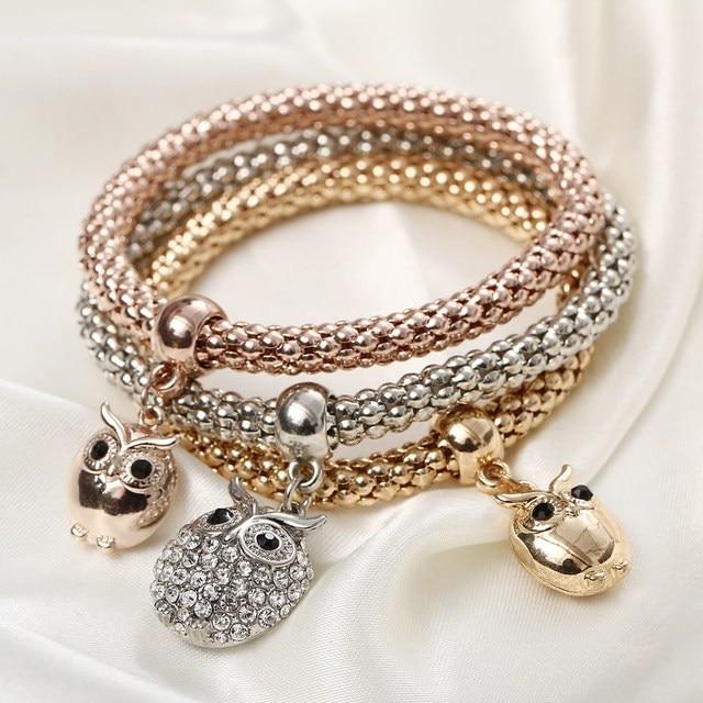 Cute Owl Charm Bracelet