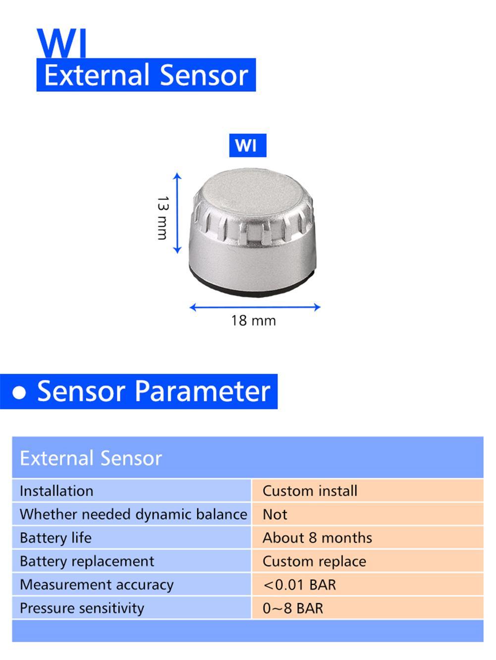 Careud M3 B Wireless Motorcycle Tpms Tire Pressure Monitoring System Sensor Circuit Diagram Motor 2 External Internal Sensors In Alarm From