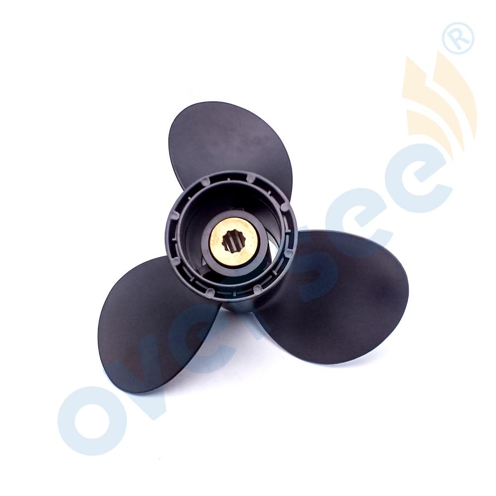 FOR SUZUKI OUTBOARD ALUMINUM PROPELLER 9.9 15 HP M911 58100-93763-019 aluminum propeller 11 1 2x11 for suzuki outboard motor dt40 dt50 40hp 50hp 11 1 2x11 58100 95222 019