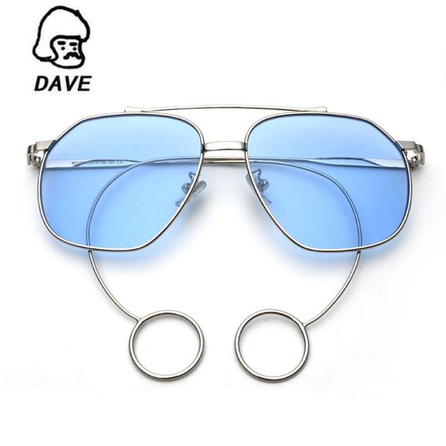 Round Vintage Occhiali da sole donne Fashion Designer del marchio classico punk di vapore specchio Occhiali da sole per donne UV400,Nero chiaro