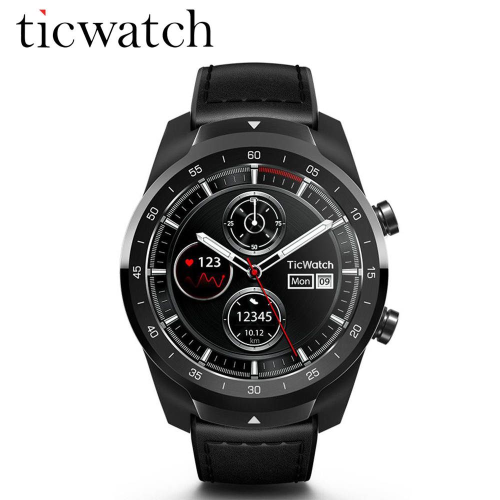100 Original Global Ticwatch PRO Android wear NFC Google Pay GPS Smart Watch IP68 Waterproof AMOLED