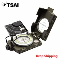 TSAI Professional Military Army Geology Compass Sighting Luminous Tourist Navigator for Outdoor Camping Tourism Drop Shipping