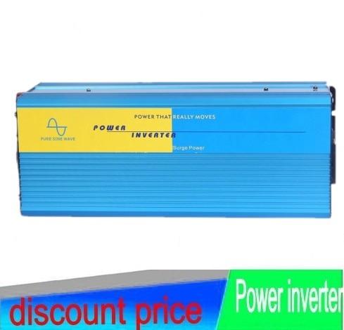 Peak 2000 WATT 12V to 220V Pure Sine Wave Inverter 1000W Pure Sine Wave inverter 12V DC To 110/220V~240V AC Freeshipping