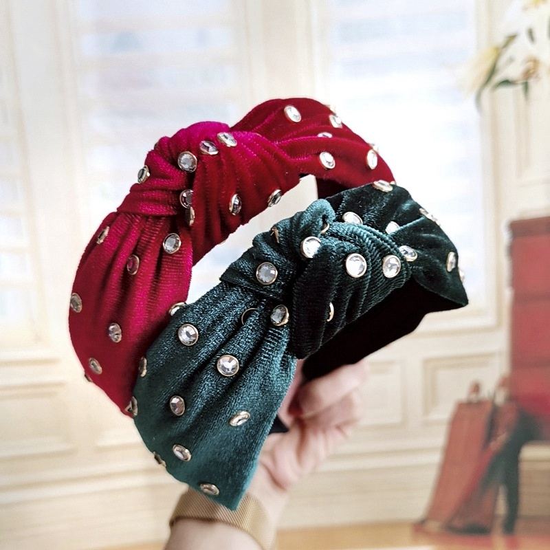 Женский бархатный ободок для волос FASACC, широкий ободок в стиле ретро, аксессуары для волос