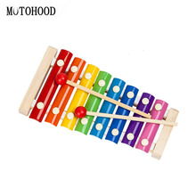 MOTOHOOD Music Instrument Toy Wooden Music Toys For Baby Children Kids Musical Wooden Toys Baby Educational Toys Gifts