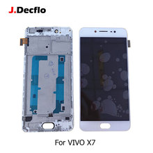 For VIVO X7 LCD Display Touch Screen Digitizer Glass Panel Full Assembly With Frame Replacement Parts 5.2 Inch with Free Tools free shipping for microsoft lumia 550 lcd display touch panel screen glass assembly with frame replacement parts