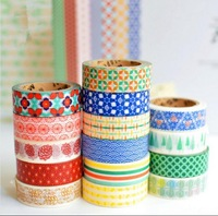 10pcs Lot Different Patterns Very Beautiful Washi Tapes Masking Tapes For DIY Crafts Scrapbooking Decorative Crafts