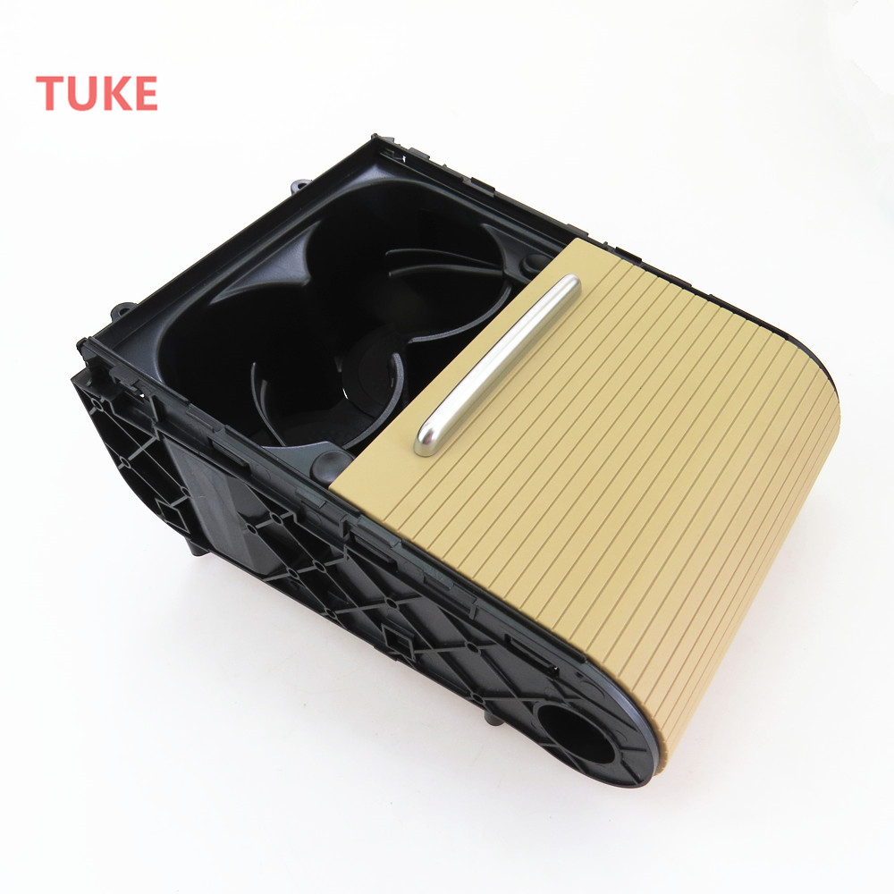 TUKE Car Beige Cup Holder Center Console Water Cups Drink Racks For VW CC PASSAT B6 B7 CC 3CD858329A 3CD 858 329 A