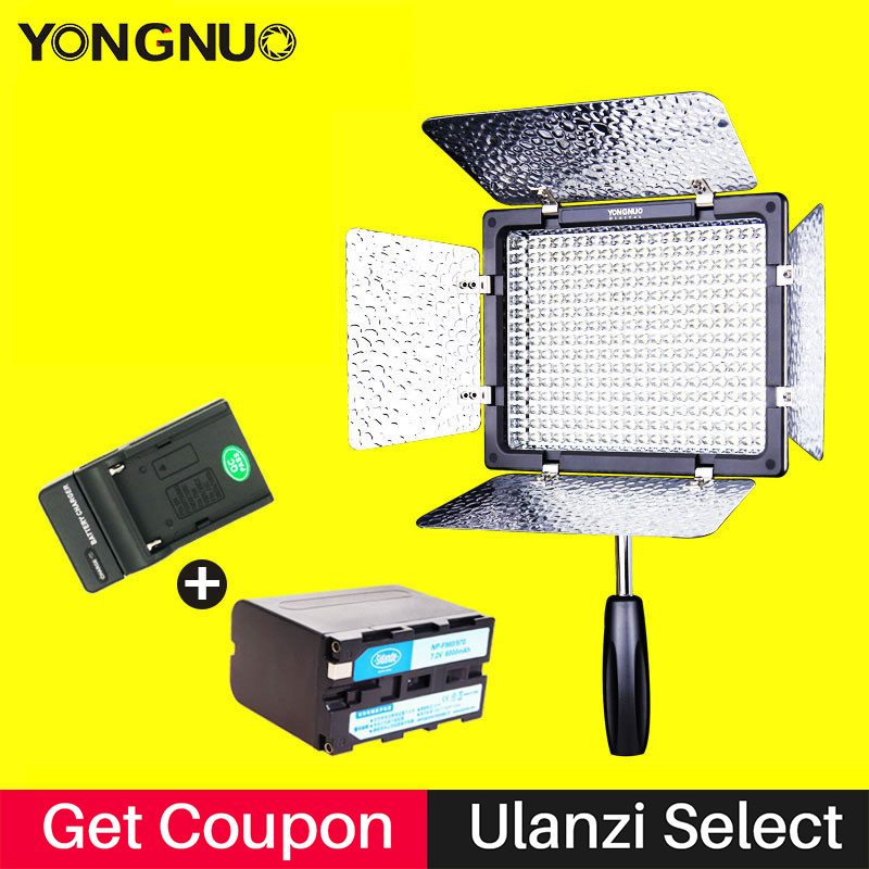 YONGNUO YN300 III CRI95 Photographic Led Camera Video Light Panel NP-F970 Battery&Charger YN300III for Wedding Studio Youtube