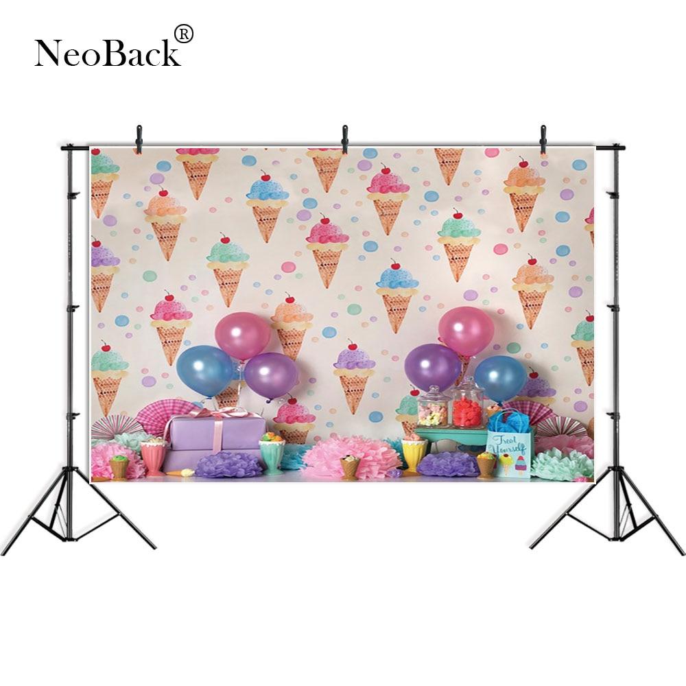NeoBack Thin vinyl present icecream NewBorn Photography Backdrop children kids backdrops Printing Studio Photo backgrounds A3650