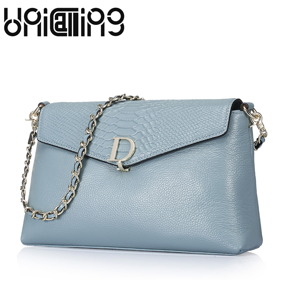 Brand women genuine leather flap bag real cow leather shoulder bag with 2 shoulder straps ladies chain leather shoulder bag chanel boy flap bag