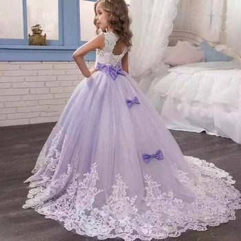 c4faef2685 Vestido bordado mariposa para niñas elegante princesa flor niñas boda  cumpleaños fiesta niños vestidos para Niñas Ropa de niños