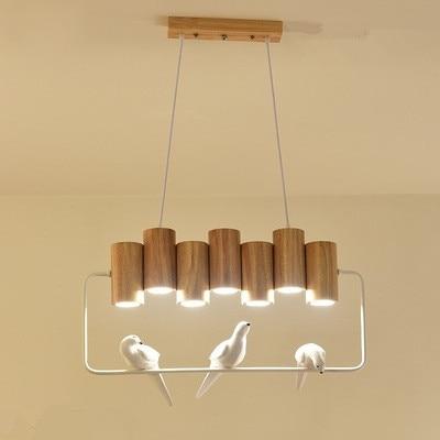 Светодиодный подвесные светильники для Обеденная птицы подвесной светильник деревянный подвесной светильник, ресторан дерево бар украшения светильник
