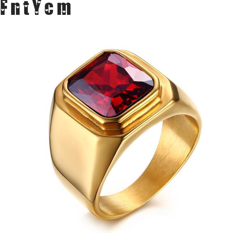 The new listing Noble red synthetic gemstone trend thomas sabor jewelry natural stone cabochons turkish supernatural ring men