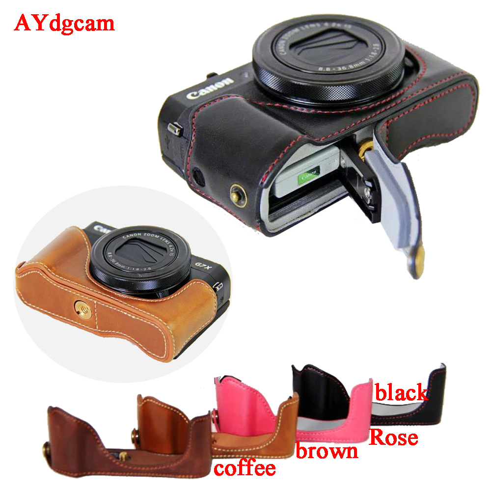 New Leather Camera Video Case For Canon Powershot G7XII G7X mark 2 G7X II G7X2 Pu