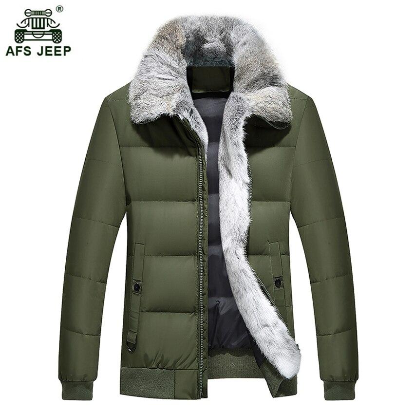 e5eaf7556000 2017 New Winter Men Down Jacket With Full Fur Collar Men s White Duck Down  Jackets XXXL 4XL Thicken Warm Coats Overcoat xia245wy