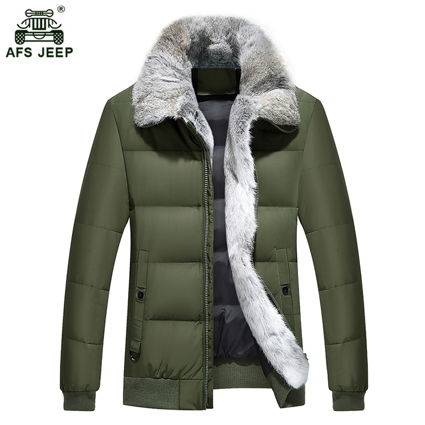 2017 New Winter Men Down Jacket With Full Fur Collar Mens White Duck Down Jackets XXXL 4XL Thicken Warm Coats Overcoat xia245wy
