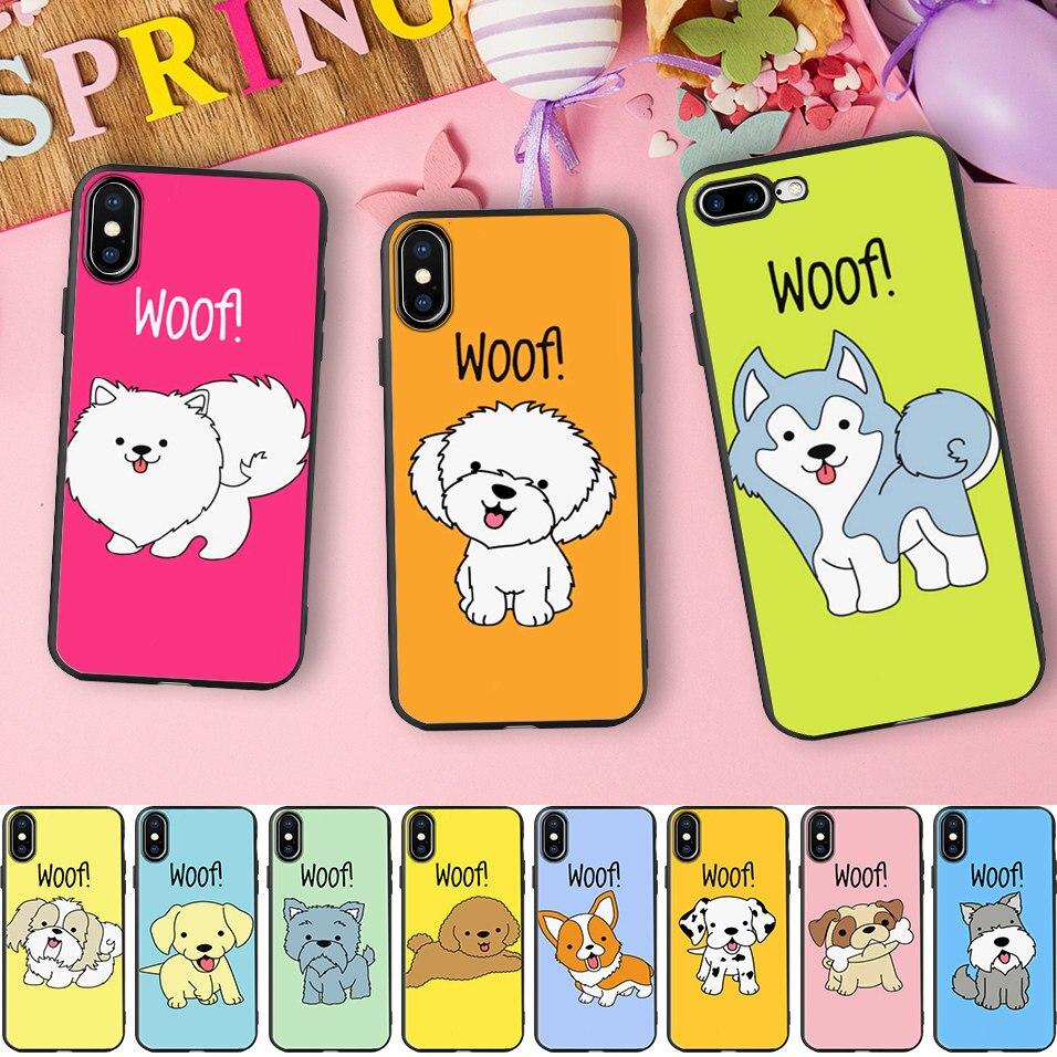 Minason Golden Retriever Cases For iPhone 7 8 Case Dog Soft Silicone Phone Cover Case For iPhone 6 6S Plus 5 5S SE X Coque Funda