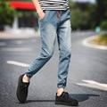 2016 Новая Мода мужские Джинсы Хлопок Джинсы мужчины jogger брюки мужчины Повседневная Промытые Брюки брюки-карго