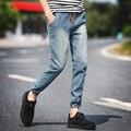 2016 Nova Moda dos homens calças de Brim de Algodão Denim calças de Brim dos homens calças basculador homens Casual Lavado Calças calças cargo