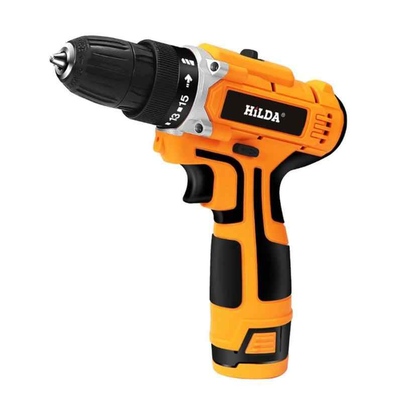 12V Cordless Electric Screwdriver Rechargeable Lithium Battery Strong Torque Drill Mini Hand Cordless Electric Drill Power Tool