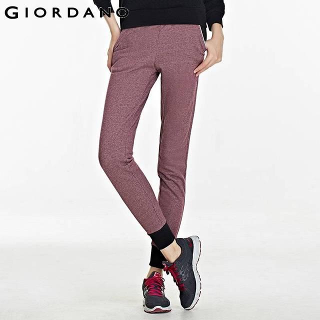 c8d700bd19 US $43.0 |Giordano Women Winter Joggers Pants Sports Harem Trousers Fashion  Fleece Jogging Quality Pantalones Mujer Sweatpants Sweat Pants-in Pants &  ...