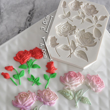 Patisserie Baking Molds Fondant Tools For Cakes Cake Decorating Rose Flower Silicone Molde