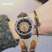 2017 Luxury Waterproof Automatic Watches Men Fashion Brand Mechanical Watch Transparent Unique Design Men's Gold Silver