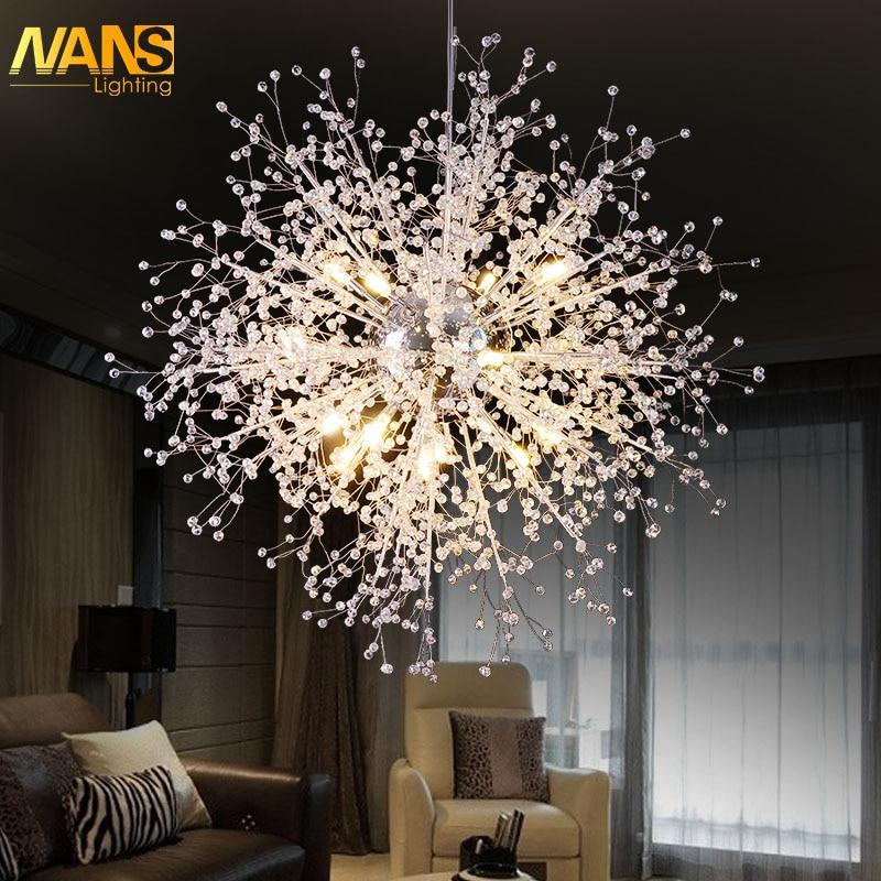 Moderne nordique nouveauté LED lustres En Cristal et pendentifs pour salle à manger/chambre/parti éclairage led Maison décoration luminaire