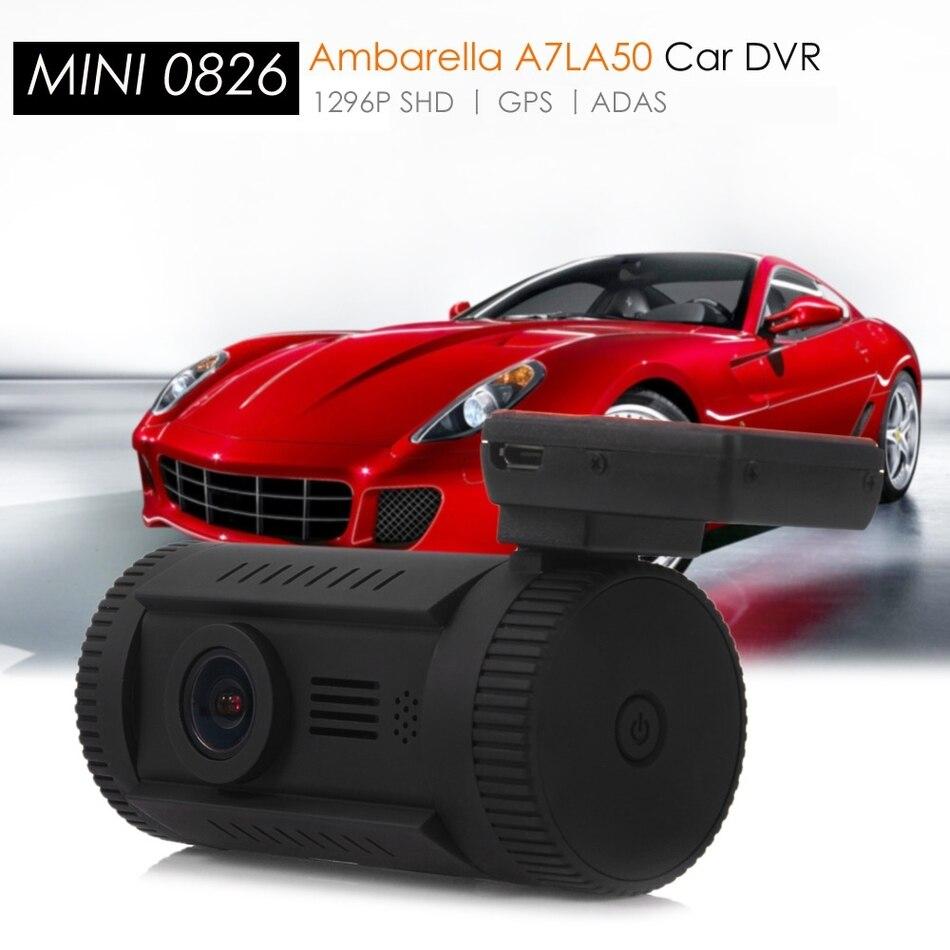Мини-0826 Автомобильный видеорегистратор камера 1,5-дюймовый TFT экран GPS видеокамера тире-камеры с разрешением ШД с 1296p Поддержка фильтра АДАС КПЛ
