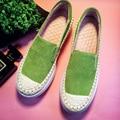 Plus Size 35-43 Sapatos de Mulher De Salto Alto 5.5 cm Plataforma Patchwork Mulheres Sapatos de Couro de Vaca Mocassins Flatform Estudante sapatos