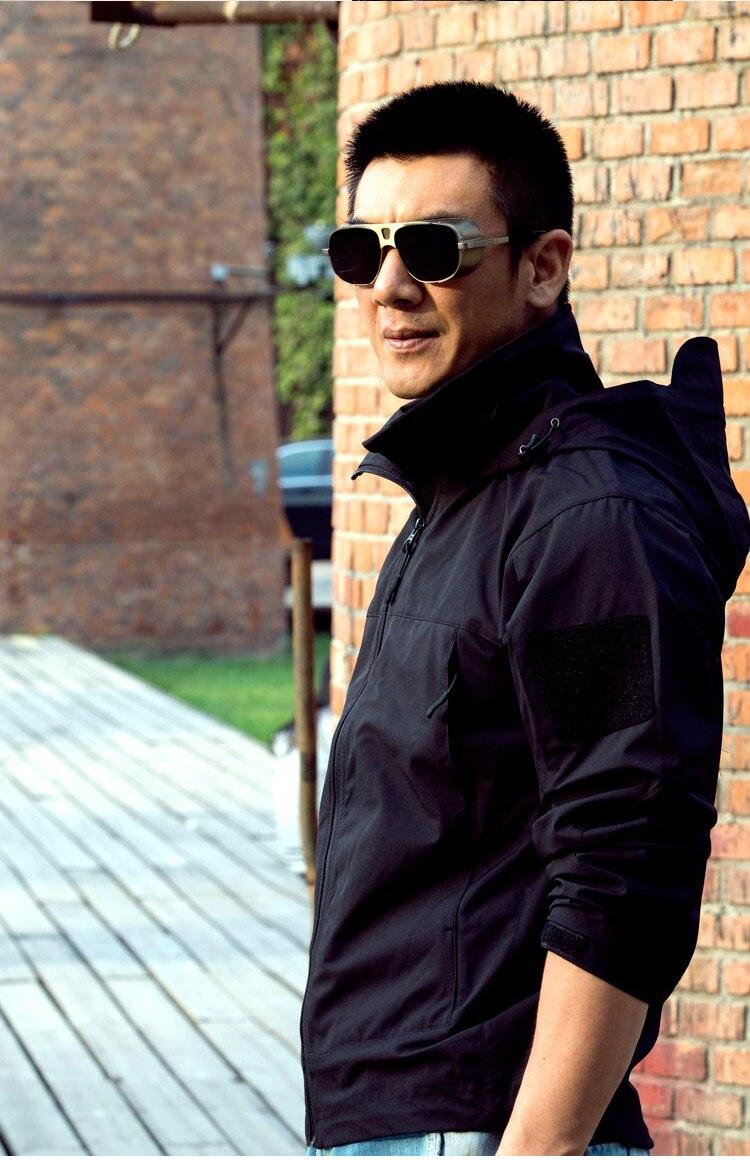 Tactique SoftShell léger imperméable uniforme Typhon noir Telfon homme & femme veste