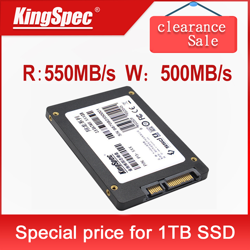 KingSpec SSD Disk 2.5 SATA III hard drive 30GB 60GB 120GB 240gb 480gb 1TB 2TB internal Solid State Drive 120 240 gb laptop sdd(China)
