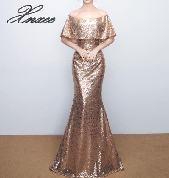 2019 długa suknia nagie plecy sukienka jedno słowo na ramię szczupła rura sukienka z topem w Suknie od Odzież damska na  Grupa 1