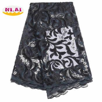 African Green Lace Wedding Dress, Luxury Lace Fabric 5Yard, African Wedding Lace Fabric High Quality Velvet Net Lace MR1710B