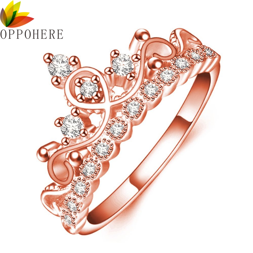 Fashion Vintage Silver Crystal Drill Hollow Crown Shaped Queen Temperament Rings For Women Party Wedding Ring Jewelry Accessorie